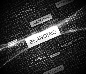 BRANDING. Word cloud concept illustration.