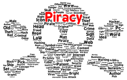 Piracy word cloud shape