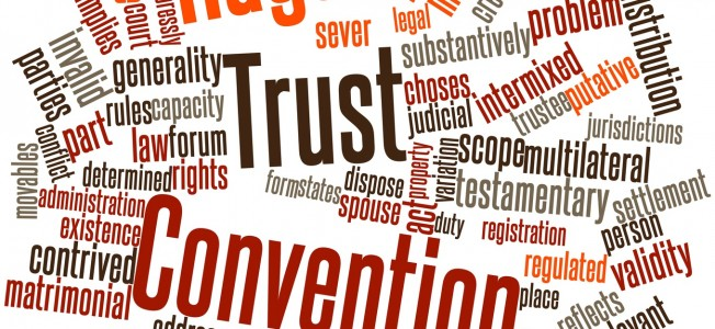Abstract word cloud for Hague Trust Convention with related tags and terms