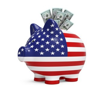 Piggy Bank with US Dollar