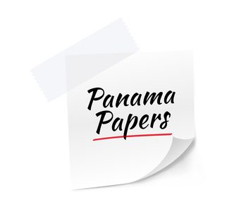 Panama Papers Stick Note Vector Illustration