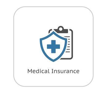 Medical Insurance Icon. Flat Design. Isolated Illustration.