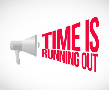 time is running out loudspeaker text message illustration design